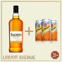 Teachers Highland Cream Whisky 700ml + 3 Can Ginger Ale
