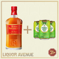 Royal Brewhouse Red Royale Whisky 750ml + 3 Can Pokka Green Tea