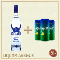 Iceland Vodka Original 700ml + 3 Can Sprite
