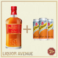 Royal Brewhouse Red Royale Whisky 750ml + 3 Can Ginger Ale