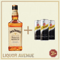Jack Daniels Honey 700ml + 3 Can Soda Water