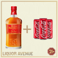 Royal Brewhouse Red Royale Whisky 750ml + 3 Can Coca Cola
