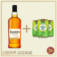 Teachers Highland Cream Whisky 700ml + 3 Can Pokka Green Tea
