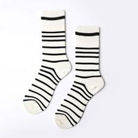 Pria Cotton Stripe Patchwork Ankle Socks Low Cut luar