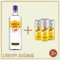 Gordon / Gordon's London Dry Gin Import 750ml + 3 Can Tonic Water
