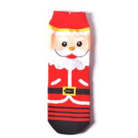 Womens Hangat Natal pendek Socks Kartun Elk Santa Low Cut