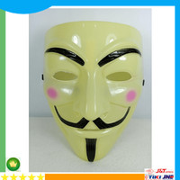 Best Topeng Anonymous / Topeng Hacker Yellow Version Kualitas KW