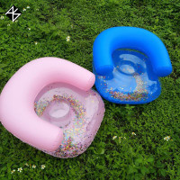 AS Kids Inflatable Sofa Baby Sitting air Sequin Kids Bath Learning