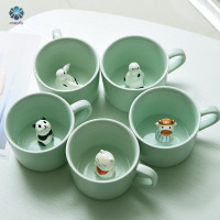Mug 3D Animal Inside Cup Cartoon Ceramics Figurine Teacup ristmas