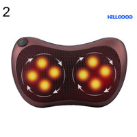 ╮Hellgood Home Car Infrared Heating Massage Pillow Lumbar Body