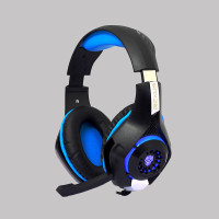 HEADSET GAMING REXUS F55 MIC WITH (LED) SINGLE JACK 3.5mm + CONVERTER