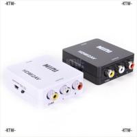 Adaptor Konverter Video Hdmi Ke Rca Av/cvbs Hd 1080p Mini Hdmi 2av