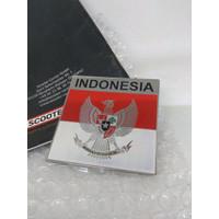 GE Sticker Metal Burung Garuda Indonesia Vespa Mobil Car Motor Badge