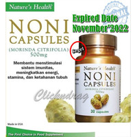 BLHumaira Natures Health NONI Capsules 500 mg Isi 30 Capsules