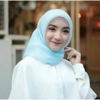 Jilbab Ori Empat Organza 4 Premium Segi Khimar Silk
