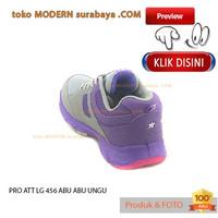 GREY LG PURPLE sneakers wanita running kets casual sepatu PRO 456 ATT