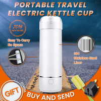 Portable Mini Electric Kettle Water Thermal Heating Boiler Travel