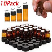 10pcs Botol Minyak Esensial Mini Ukuran 1/2/3/5ml Untuk Makeup