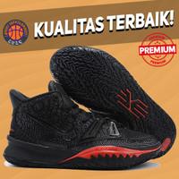 Sepatu Basket Sneakers Nike Kyrie 7 Black Red Bred White Pria Wanita