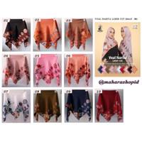 WARNA scarf Narita Motif v03 UMAMA PILIH kerudung segi4 paris jilbab s