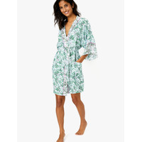 MARKS & SPENCER - Set Piyama Wanita - Floral Short Wrap Dressing Gown