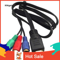 ♉ kn Kabel Adapter Konverter Komponen AV 1M HDMI Male Ke 3 RCA