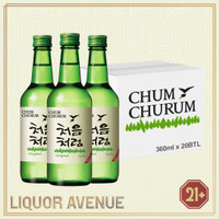 Lotte Chum Churum Original Korea Soju 360ml - 1 karton isi 20 botol