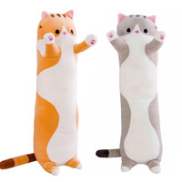 Boneka Bantal Panjang Bahan Plush Lembut Bentuk Kucing
