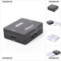 monny Adapter Konverter Video Hdmi Ke Rca Av/cvbs Hd 1080p Mini Hdmi