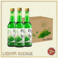 Happy Soju Grape / Anggur 360ml - 1 karton isi 20 botol