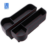 Console Side Pocket, PU Leather Car Seat Gap Filler Organizer Cater