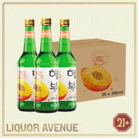 Happy Soju Peach 360ml - 1 karton isi 20 botol