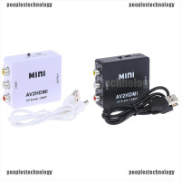 Adapter Konverter Av2Hdmi 1080p 3rca Av Ke Hdmi Ukuran Mini