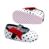 Sepatu Princess Kulit PU Bayi Perempuan Anti Slip Motif Polkadot