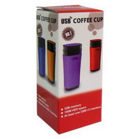PRI USB Rechargeable Heated Warmer Coffee Mug Cup with Automatic Stirr