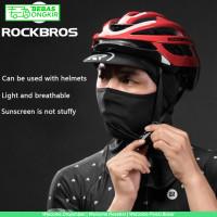 Masker Full Face Bahan Ice Silk dengan Topi untuk Outdoor Motor