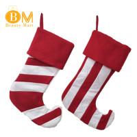 2Pcs Kaos Kaki Permen Motif Natal untuk Hadiah Anak