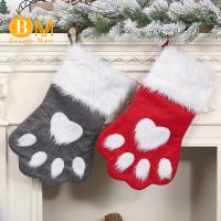 2Pcs Kaos Kaki Gantung Motif Natal untuk Anak