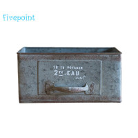 Vintage Shabby ic Rectangle Gaanized Zinc Drawer Planter Box