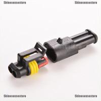 5Pcs Set Plug Konektor Kabel Listrik 2 Pin Anti Air untuk Mobil