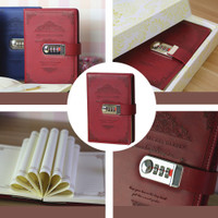 Hand Book Vintage Retro Stationery Lock Diary Sool Office Pas