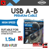 Kabel USB A-B 1.5M MAGNUM Printer Scanner AB 1.5 Meter ORIGINAL HQ Pre