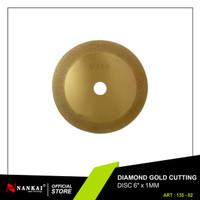 Perkakas Pisau Potong Batu / Diamond Gold Cutting Disc 6 Murah Nankai