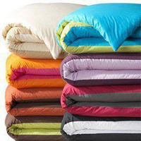 SALE BEDCOVER ONLY TWOTONE KING QUEEN SIZE .