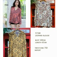 Beauty - (COD) 5718# Leopard Blouse | Atasan Wanita Import