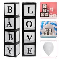 50 Balon dan 4 Transparan Box Balon Ulang Tahun Pernikahan