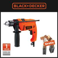Black+Decker Bor Hammer Drill 13mm 550W Free Carbon Brush (HD555-B1)