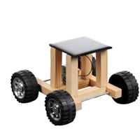 New Solar Powered Toy Wooden Car Racer Educational Gadget