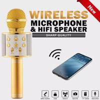 Mic Karaoke Bluetooth Smule Portable Wireless Microphone Speaker Mik