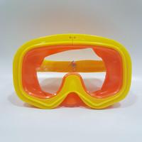 Kacamata Renang   Goggles Mask   Swim Mask Anak - Orange Kuning